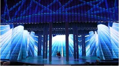 舞美灯光设计之举起舞台的杠杆:2009央视春晚舞美设计图片